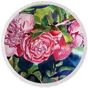 Breathtaking Blossoms Round Beach Towel