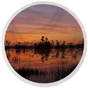 Breathtaking Florida Round Beach Towel