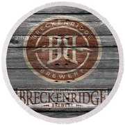 Breckenridge Brewery Round Beach Towel