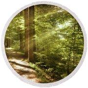 Eternal Woods Round Beach Towel