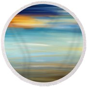 Breeze-seascapes Abstract Art Round Beach Towel
