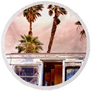 Breezy Day Palm Springs Round Beach Towel
