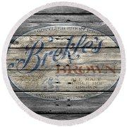 Brekles Brown Round Beach Towel