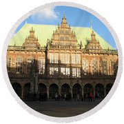 Bremen Town Hall Germany Round Beach Towel