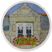 Bretagne Window Round Beach Towel