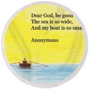 Breton Fisherman's Prayer Round Beach Towel