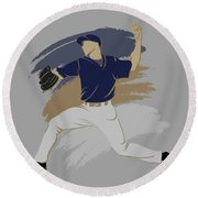Brewers Shadow Player Round Beach Towel