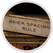 Brick Mason's Rule Round Beach Towel by Wilma  Birdwell