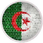 Brick Wall Algeria Round Beach Towel