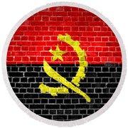 Brick Wall Angola Round Beach Towel