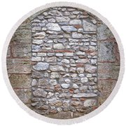 Bricked Up Doorway Round Beach Towel