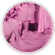 Bridal Pink By Jrr Round Beach Towel