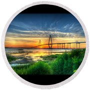 Bridge 3 Round Beach Towel