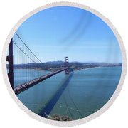 Bridge America Round Beach Towel