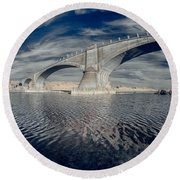 Bridge Curvature In Color Round Beach Towel