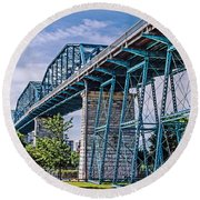 Bridge From The Park Round Beach Towel