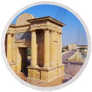 Bridge Gate In Cordoba Round Beach Towel