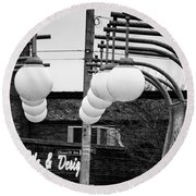 Bridge Globes Round Beach Towel