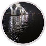 Bridge Korea Round Beach Towel