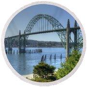 Bridge Newport Or 1 B Round Beach Towel