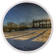 Bridge Of Spy's Sunset. Round Beach Towel