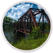 Bridge To A Time Gone By Round Beach Towel