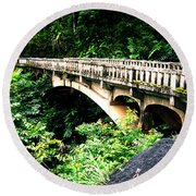Bridge To Hana Maui Round Beach Towel