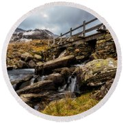 Bridge To Idwal Round Beach Towel