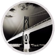 Bridge To Poughkeepsie 2 Round Beach Towel