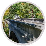 Bridge To Serenity Round Beach Towel