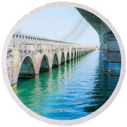 Bridges New And Old Round Beach Towel