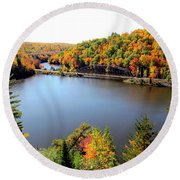 Old Bridge, New Bridge Round Beach Towel