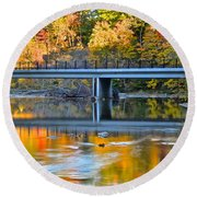 Bridges Of Madison County Round Beach Towel