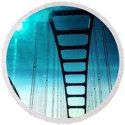Bridges To Heaven Round Beach Towel