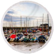 Bridlington Harbour Round Beach Towel