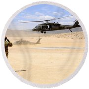Brigade Aviation Officer Salutes Round Beach Towel