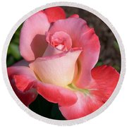 Brigadoon Rose Round Beach Towel