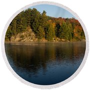 Bright And Sunny Autumn Reflections Round Beach Towel
