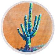 Bright Cactus Round Beach Towel