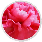 Bright Carnation Round Beach Towel