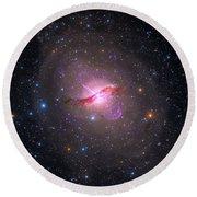 Bright Galaxy Centaurus A Round Beach Towel
