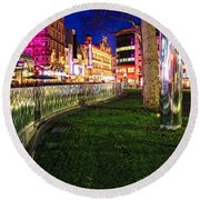 Bright Lights Of London Round Beach Towel by Jasna Buncic