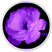 Bright Purple Perfection Round Beach Towel