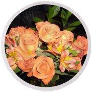 Bright Roses Round Beach Towel