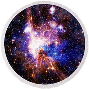 Bright Side Of The Black Hole Round Beach Towel
