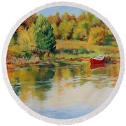 Bright Spring Afternoon Round Beach Towel