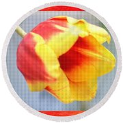 Bright Tulip Round Beach Towel