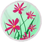 Brighten Your Day Round Beach Towel