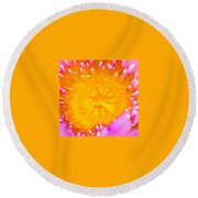 Inner Beauty Round Beach Towel
