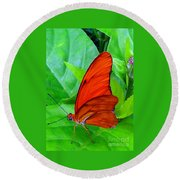 Brilliant Butterfly Round Beach Towel